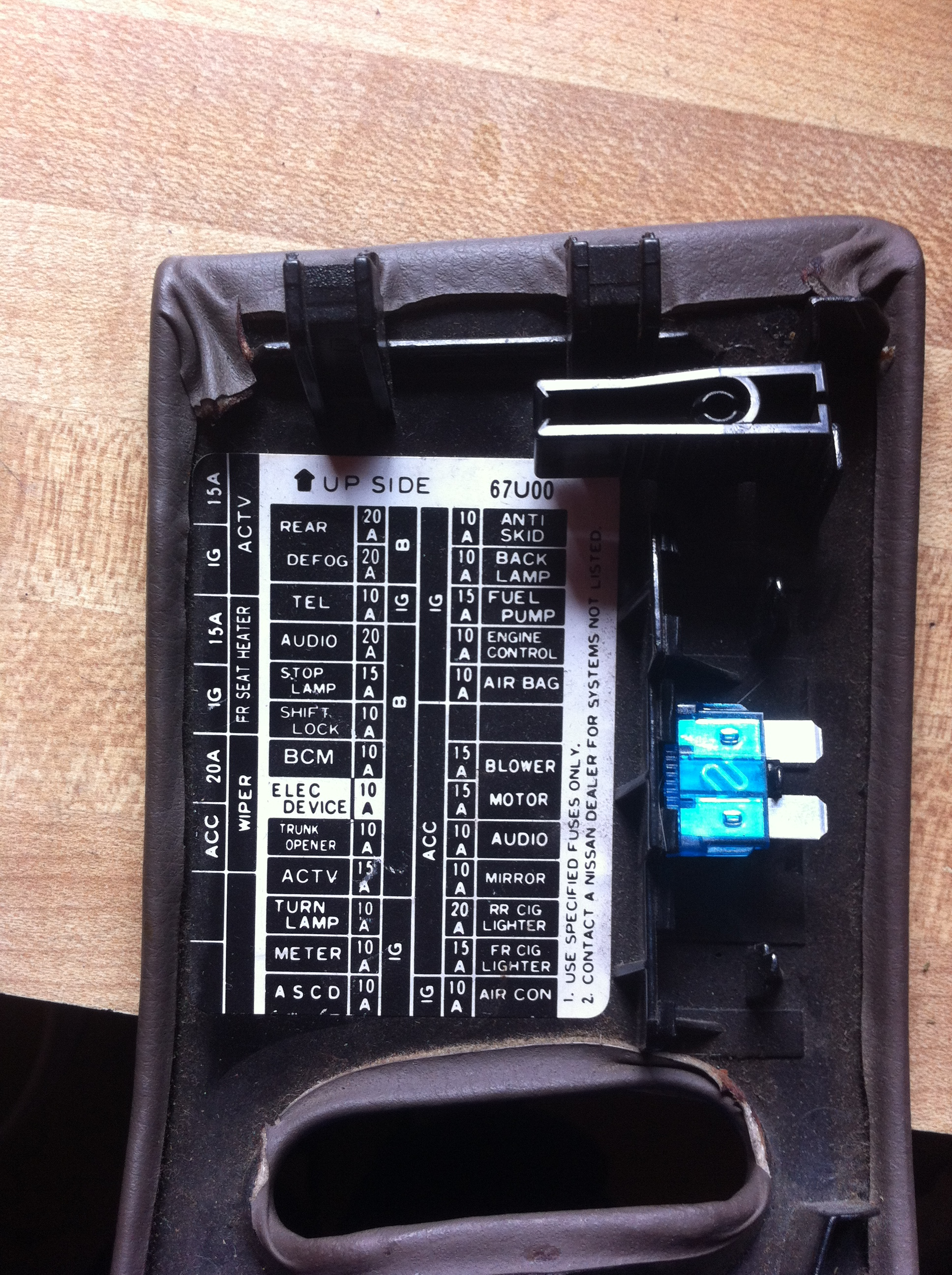 2002 Nissan Pathfinder Fuse Box Location 40 Wiring Diagram Images Altima Fusebox Anyone Got A Picture Of The Back Side Cabin